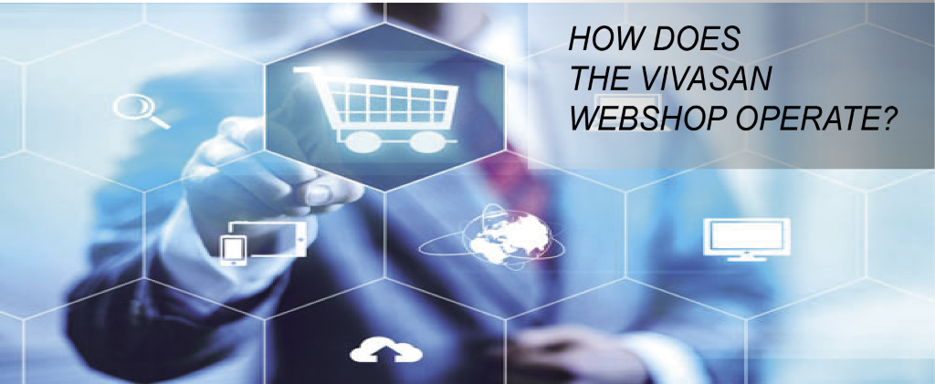 How does the Vivasan webshop operate?